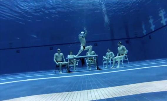"Still from ""UGA Men's Swim & Dive Harlem Shake"" on YouTube"