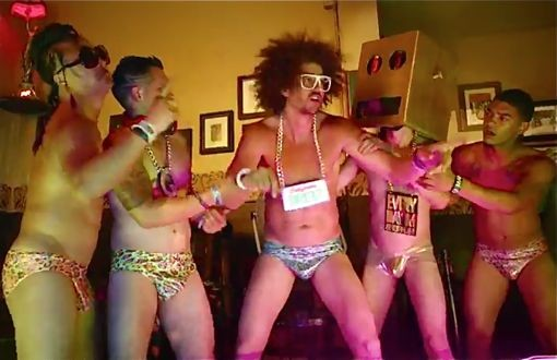 screencap of LMFAO's Sexy and I Know It video