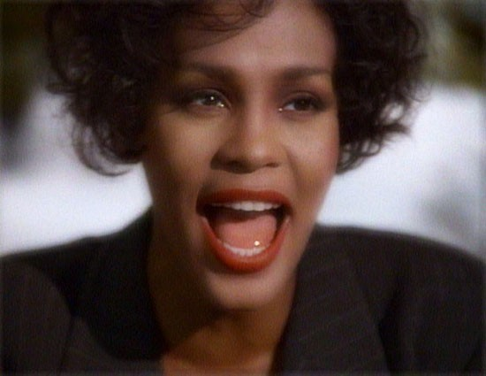 still of whitney houston from I Will Always Love You