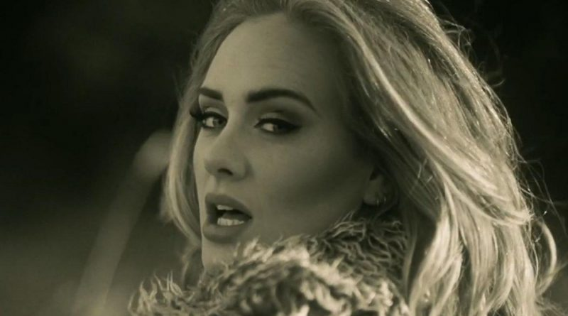 """Adele's """"Hello"""" has already broken just about every first-week record there is. Still from the video for """"Hello"""""""