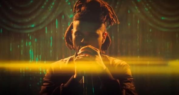 """With """"Can't Feel My Face,"""" The Weeknd goes the last mile in his self-immolating quest to transform himself. Still from the video for """"Can't Feel My Face."""""""
