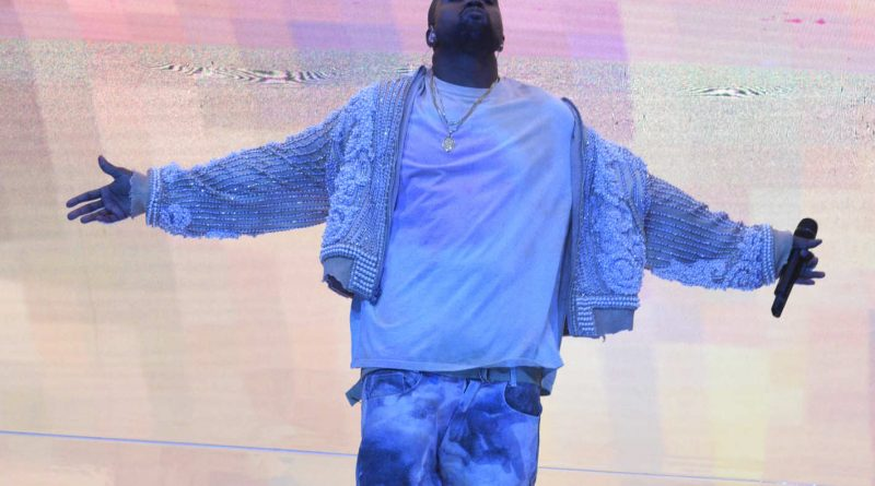 Kanye, basking in that No. 1 glow. Photo: NBC/Getty Images