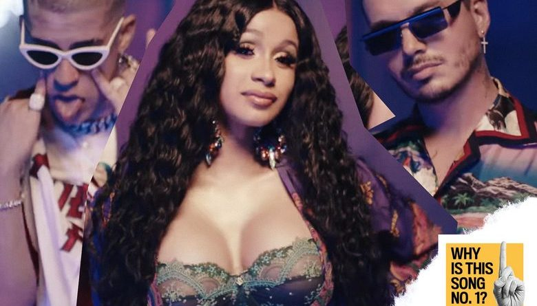 Bad Bunny, Cardi B, and J Balvin. Photo illustration by Slate.