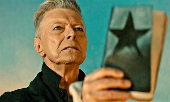 "David Bowie's weirdest album could also be his first No. 1. Bowie would have loved that. David Bowie in the video for ""Blackstar."""