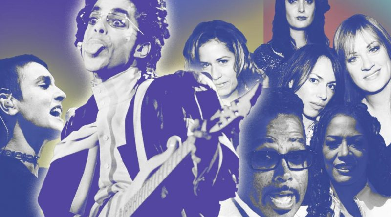 Prince had so many ideas for hit songs that sometimes he just gave them away. Photo illustration by Sofya Levina. Images by Frederick M. Brown/Getty Images, David Livingston/Getty Images, Alessandro Della Valle/Getty Images, and Bertrand Guay/Getty Images