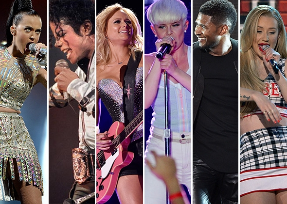 One of these artists may have recorded your perfect Song of the Summer. From left to right, photos by Dave J. Hogan, Patrick Kovarik, Larry Busacca, Kevin Winter, Kevin Winter again, and Ethan Miller. All photos are Getty Images​.
